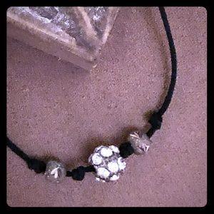 Silpada Black Cord Necklace
